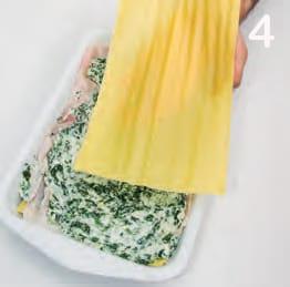 Lasagna in bianco con spinaci e prosciutto cotto