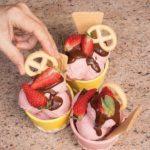 Gelato fragole e panna: ricetta con gelatiera