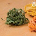 Tris di tagliatelle agli spinaci, zafferano e pomodoro
