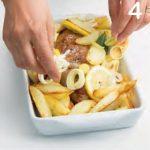 Filetto di maiale con patate, alloro e limone