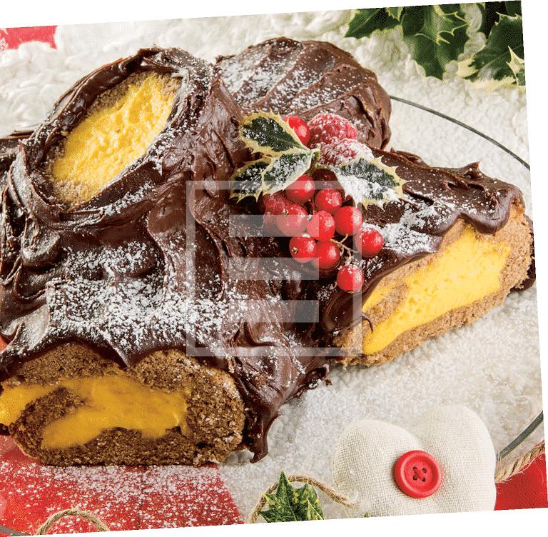 Dolci e dessert: Tronchetto crema e cioccolato