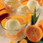 Coppe di gelato all'arancia e mascarpone