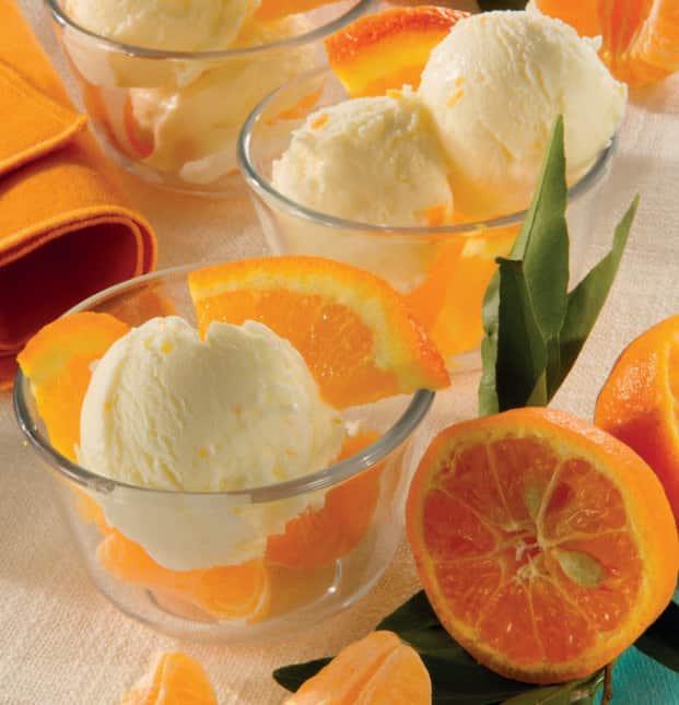 gelato all'arancia e mascarpone