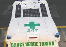 L'ambulanza Fotovoltaica Della Croce Verde Di Torino Al Salone Del Libro
