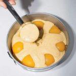 Cheesecake di amaretti e pesche sciroppate