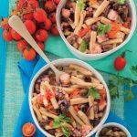 Caserecce con polpo, olive e pomodorini