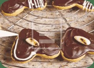 """Biscotti segnaposto """"cuore di cioccolato"""", ricetta facile"""