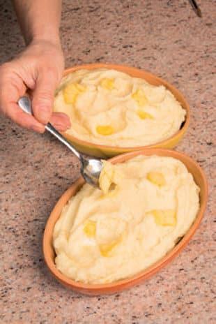 Tortino in forno di uova sode e patate con pancetta