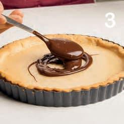 Crostata con crema al miele e ganache al cioccolato