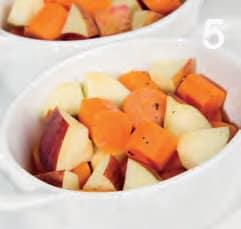 Carote e mele al forno con miele e maggiorana