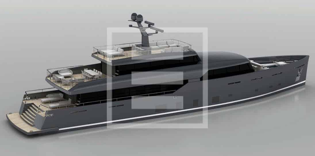 The Logica 135 yacht Stretches an imposing 41.5 metres