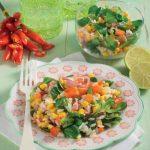 Insalata di riso con prosciutto cotto e peperoni