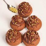 Muffin dei Magi con crema al cioccolato e cuore all'arancia