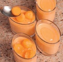 Mousse leggera al melone cantalupo e lime