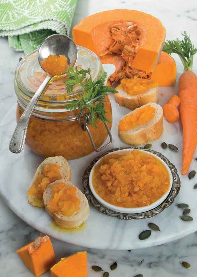 Salsa agrodolce di zucca per crostini e formaggi