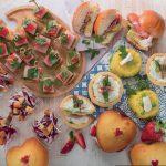 Tartellette con crema di stracchino, speck e punte di asparagi