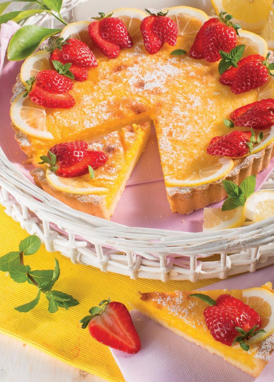 Crostata con farcia al limone e latte condensato