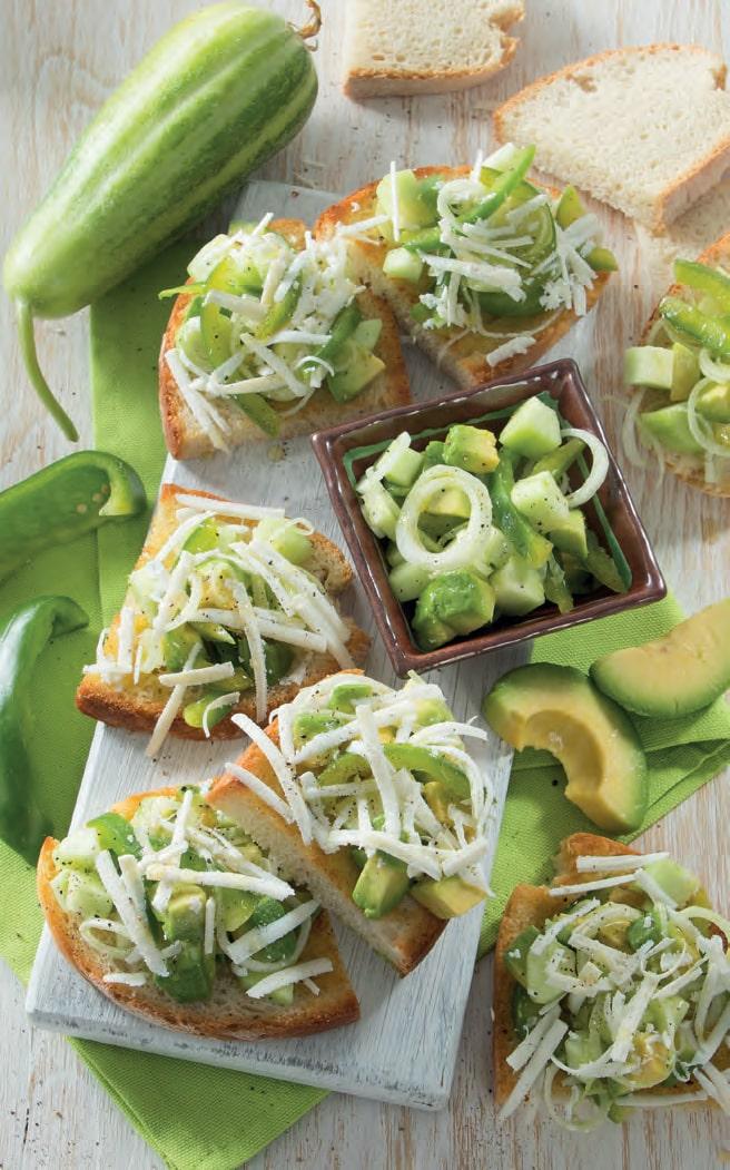 Tartare di avocado, cetriolo e peperone