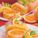 Dessert: Rotolo con crema all'arancia