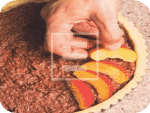 Ricetta crostata al cacao e pesche