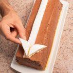 Semifreddo al cioccolato fondente, arancia e cannella
