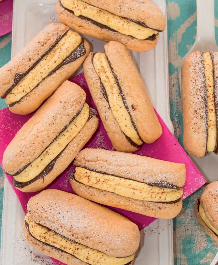 Sandwich di savoiardi con cioccolato e mascarpone