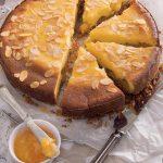 Cheesecake alle mandorle con confettura di arance