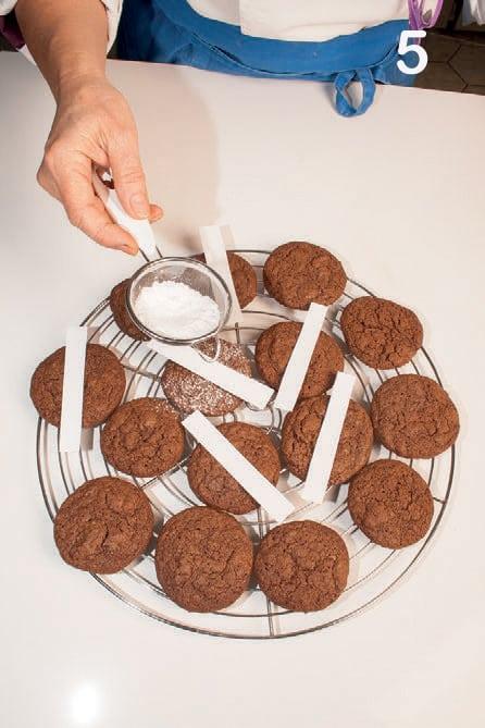 Cookies all'italiana con caffè e cioccolato fondente
