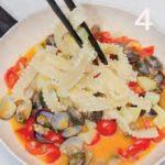 Reginette con vongole veraci, pomodorini e patate