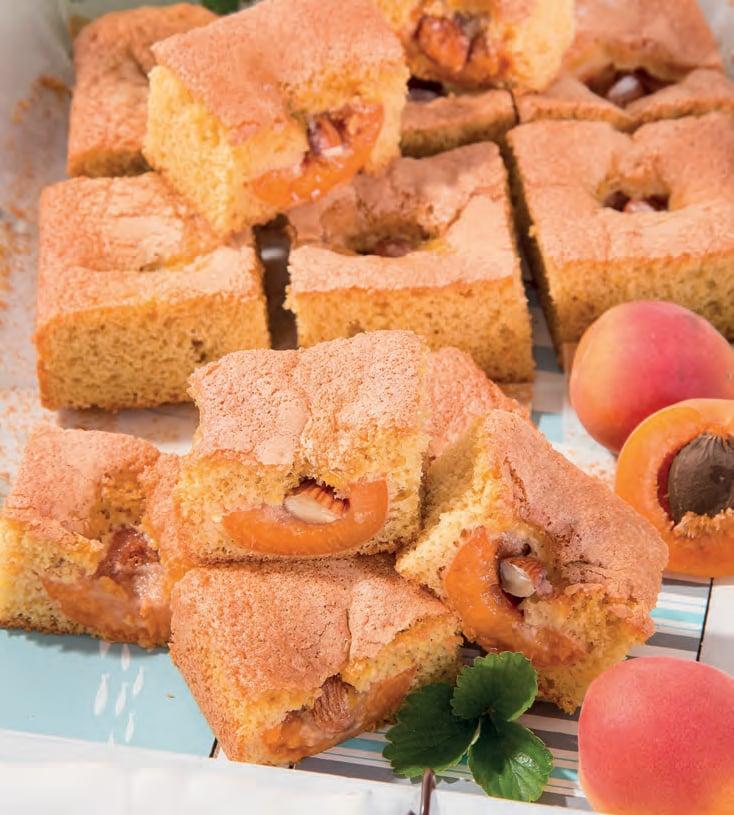 Torta rustica con albicocche e mandorle