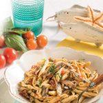 Cavatelli di pasta fresca con pomodorini, alici e basilico