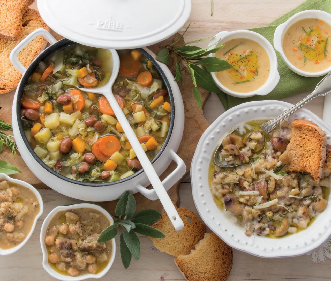 Zuppa valpellinese con verza, fontina e salvia