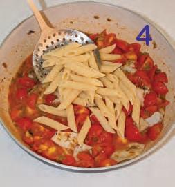 Pasta con ombrina, acciughe e pomodorini