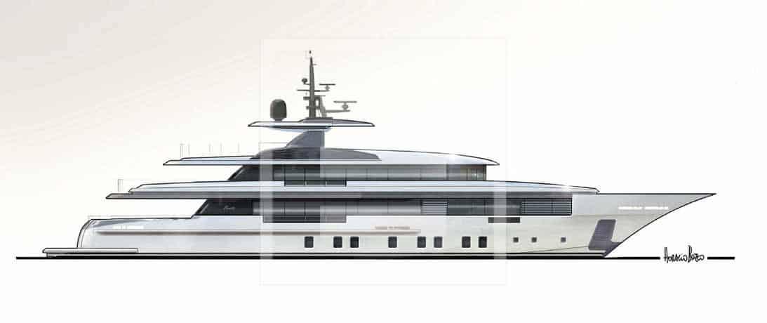 The Zafiro yacht from Benetti