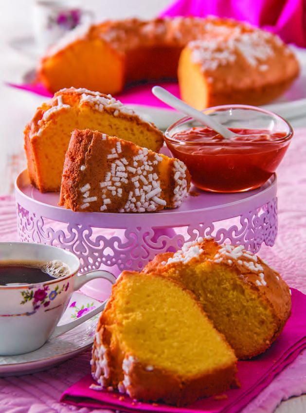 Ciambella paradiso alla vaniglia con granella di zucchero