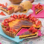 Crostata con crema e confettura di amarene