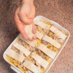 Tagliatelle al forno con funghi e tacchino