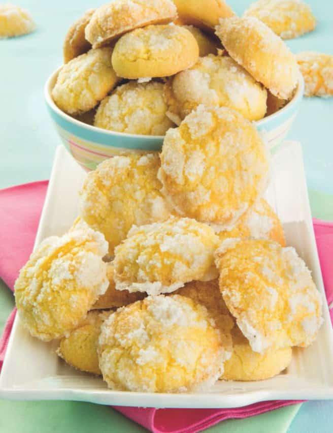 Biscotti ricoperti di zucchero