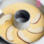 Ciambella all'olio con mele e mandorle