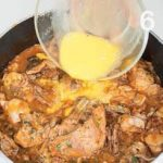 Ricetta del coniglio in fricassea con funghi e pancetta