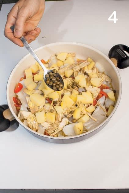 Baccalà in umido con carciofi, patate e sughetto saporito