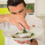 Baccalà con maionese di sedano e funghi porcini