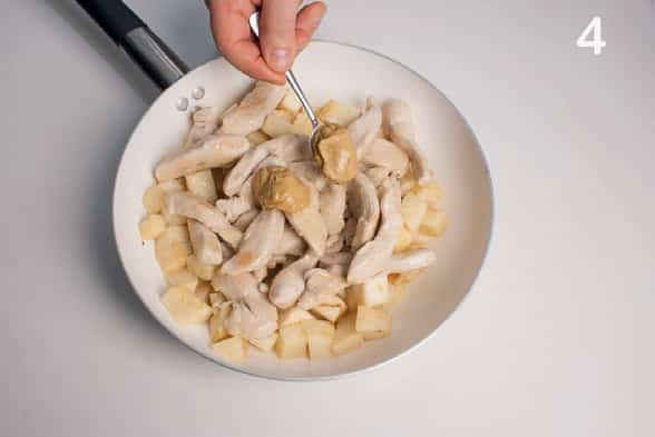 Fesa di tacchino con senape e sedano rapa