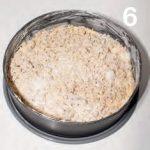 Torta rustica ricoperta con nocciole e zucchero di canna