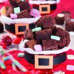 Brownies al cioccolato e arancia per Babbo Natale