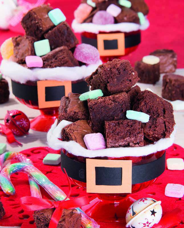 Brownies al cioccolato e arancia nella pancia di Babbo Natale