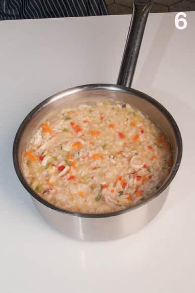 Risotto di mare leggero con calamari e verdurine: la ricetta