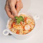 Per una cena elegante, prepara il risotto all'astice e basilico