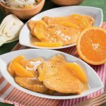 Scaloppine di maiale al Marsala e succo d'arancia