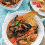 zuppa di cozze fagioli borlotti